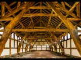 Arley Hall, Medieval Cruck Frame Barn by Trevor LOWES