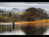 Fishing on Esthwaite Water by Dave Hastings