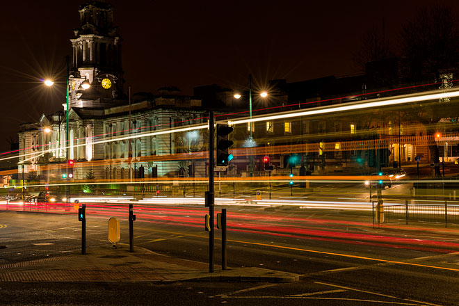 Light trails and the Town Hall